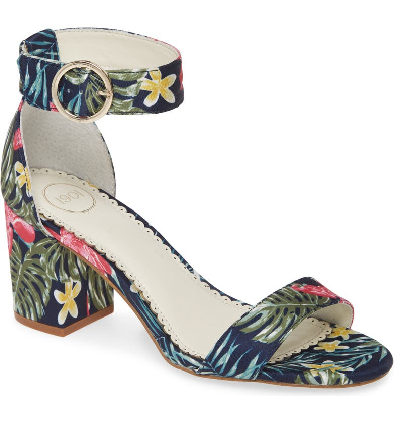 1901 Ellery Sandal, Main, color, NAVY HAWAII PRINT FABRIC
