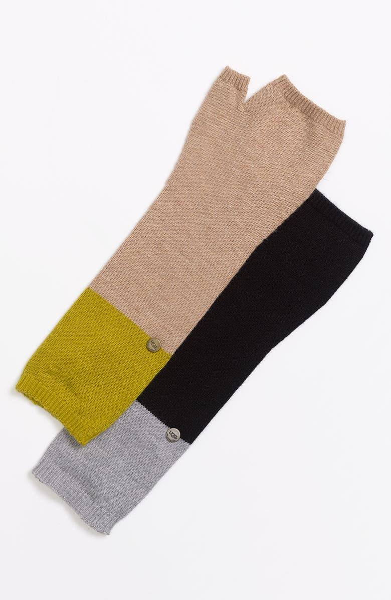 UGG<SUP>®</SUP> Australia 'Madison' Fingerless Gloves, Main, color, 001