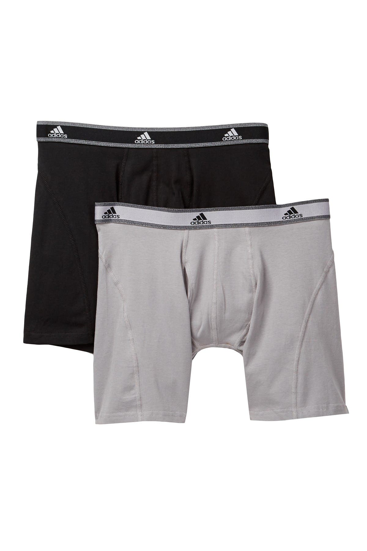 Image of adidas Athletic Stretch Relaxed Boxer Brief - Pack of 2