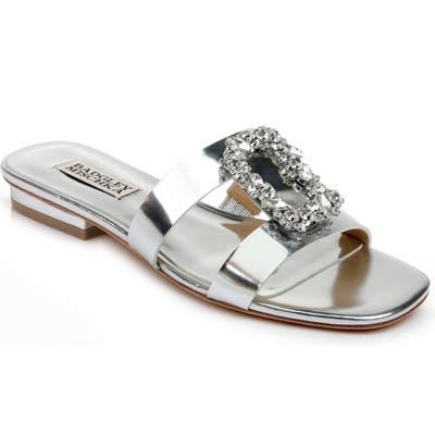 Badgley Mischka Josette Slide Sandal- Metallic
