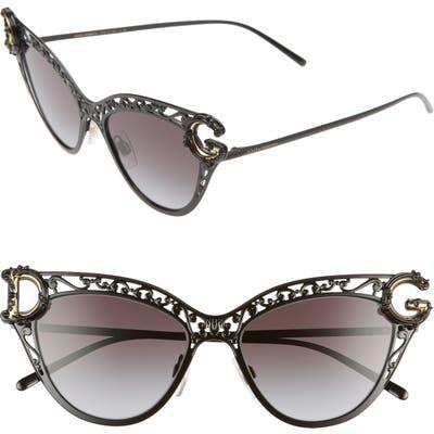 Dolce & gabbana 5m Cat Eye Sunglasses - Black/ Grey Gradient