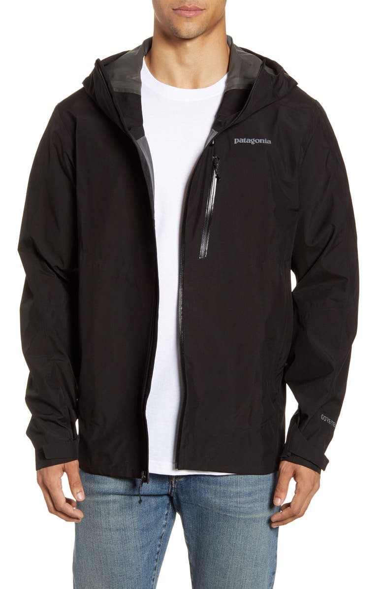 PATAGONIA Calcite Hooded Jacket, Main, color, BLACK