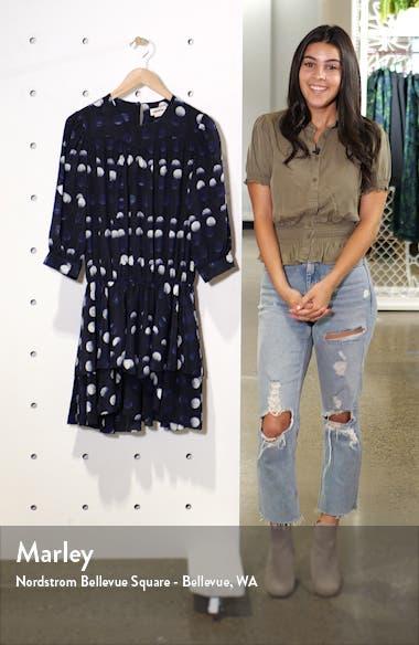 Rooka Dots Silk Fit & Flare Dress, sales video thumbnail