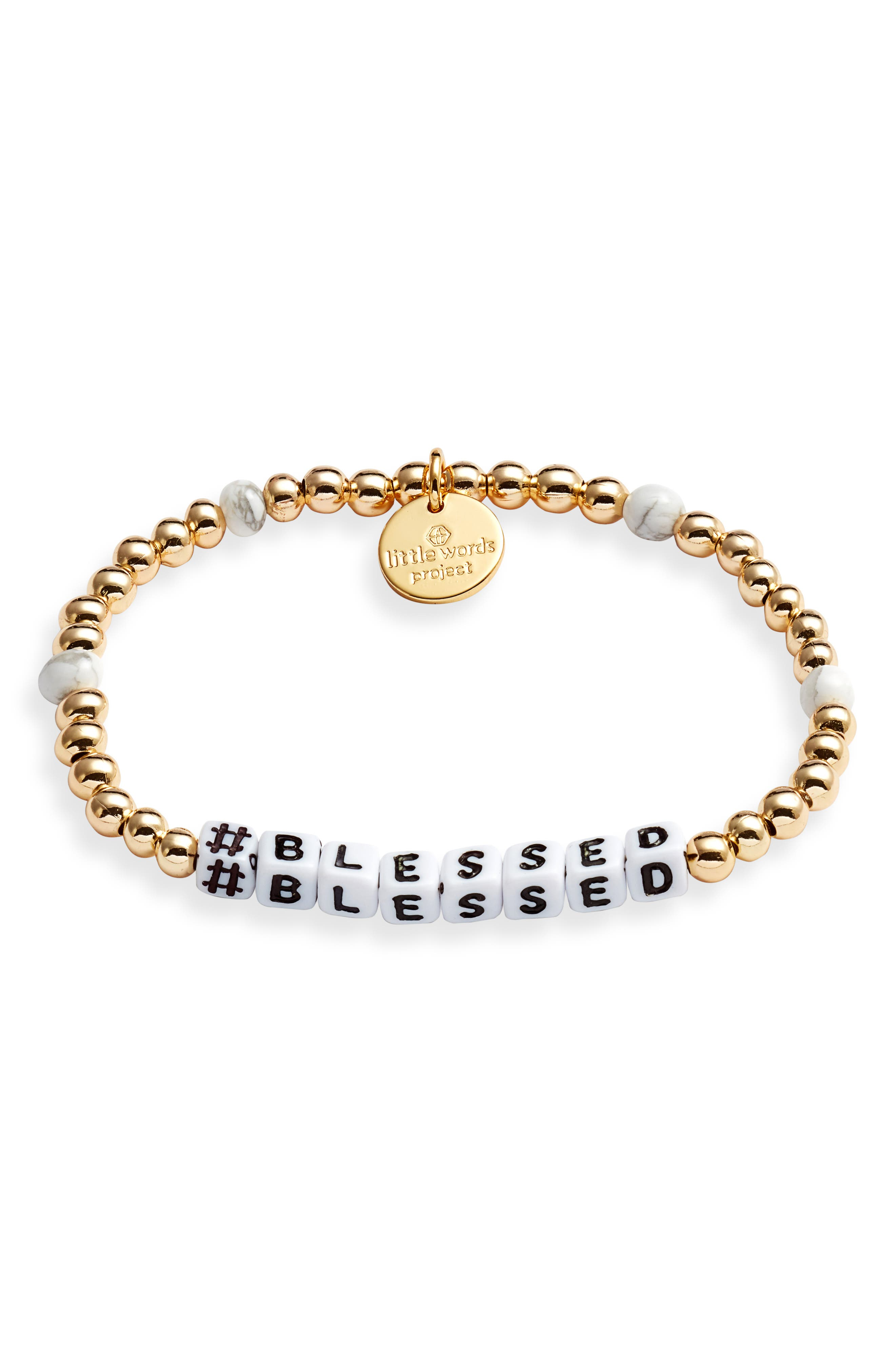 #blessed Beaded Stretch Bracelet