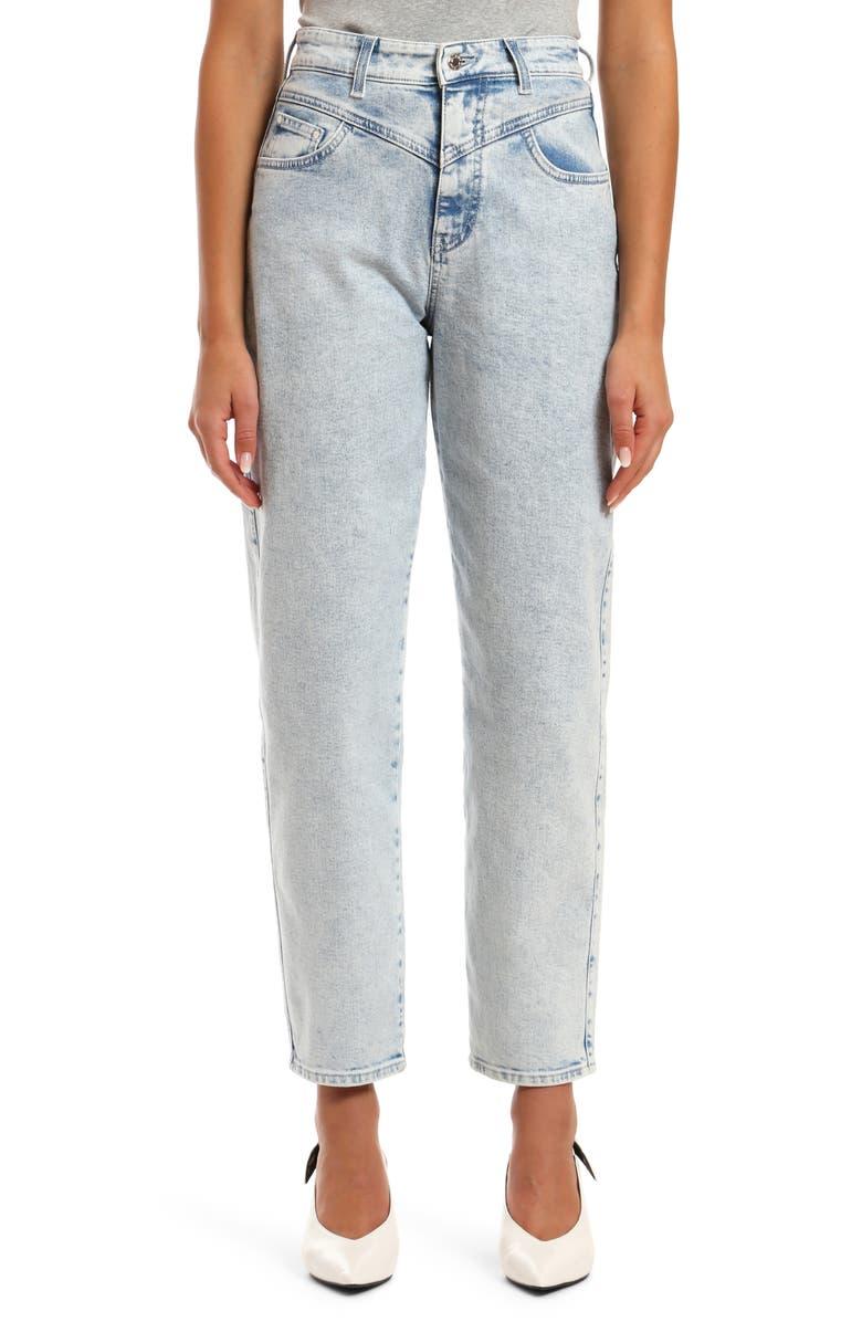 MAVI JEANS Lola High Waist Straight Leg Ankle Jeans, Main, color, 420