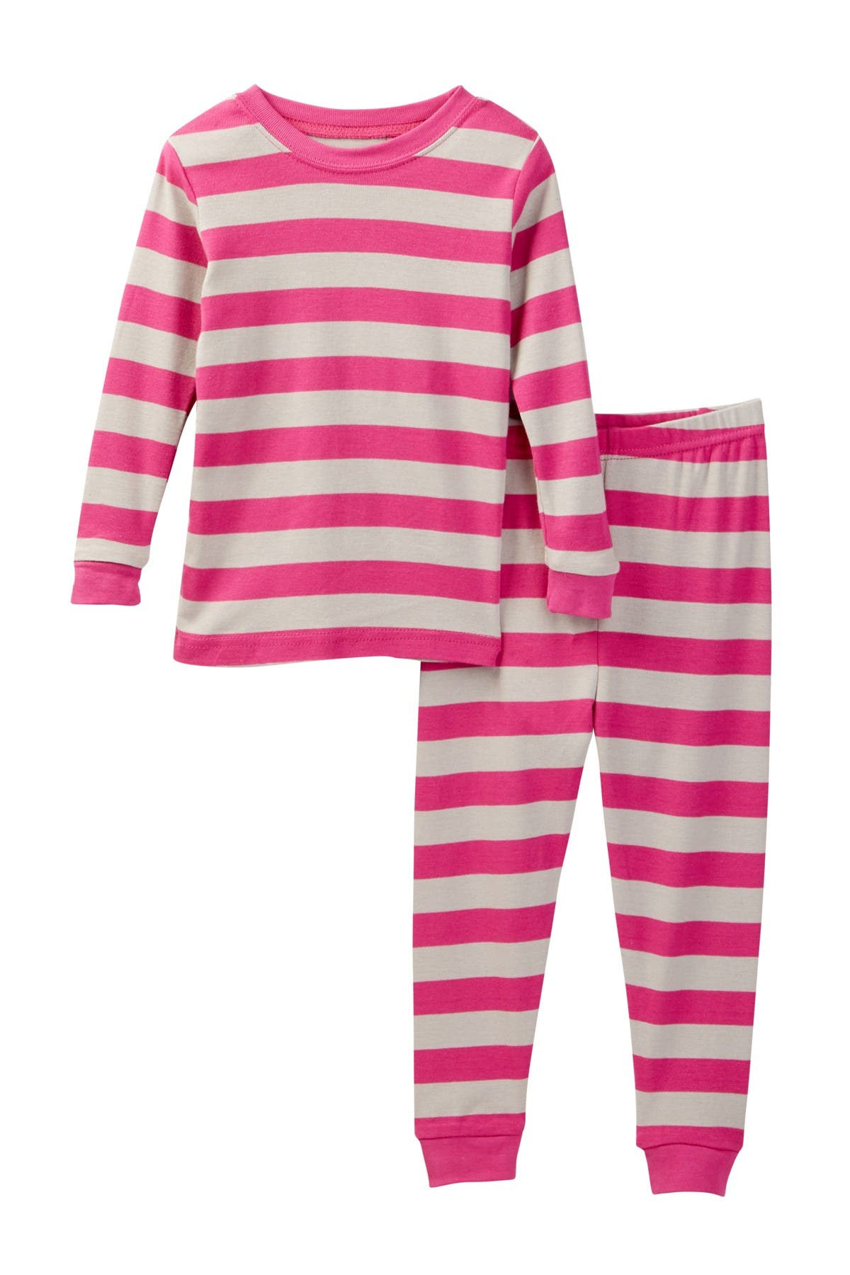 Image of Leveret Berry Chime Striped Pajama Set