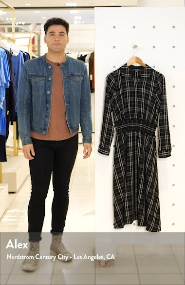 Plaid Long Sleeve Shirtdress, sales video thumbnail