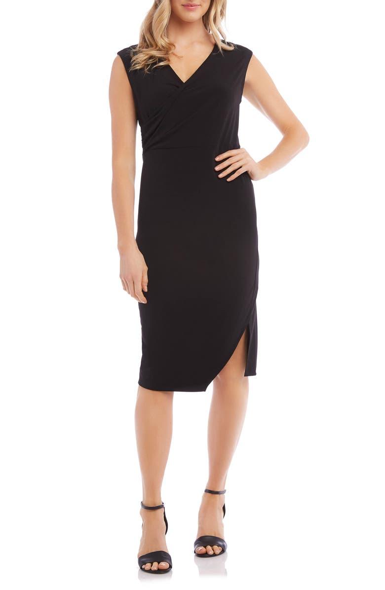 KAREN KANE Sophia Drape Dress, Main, color, BLACK