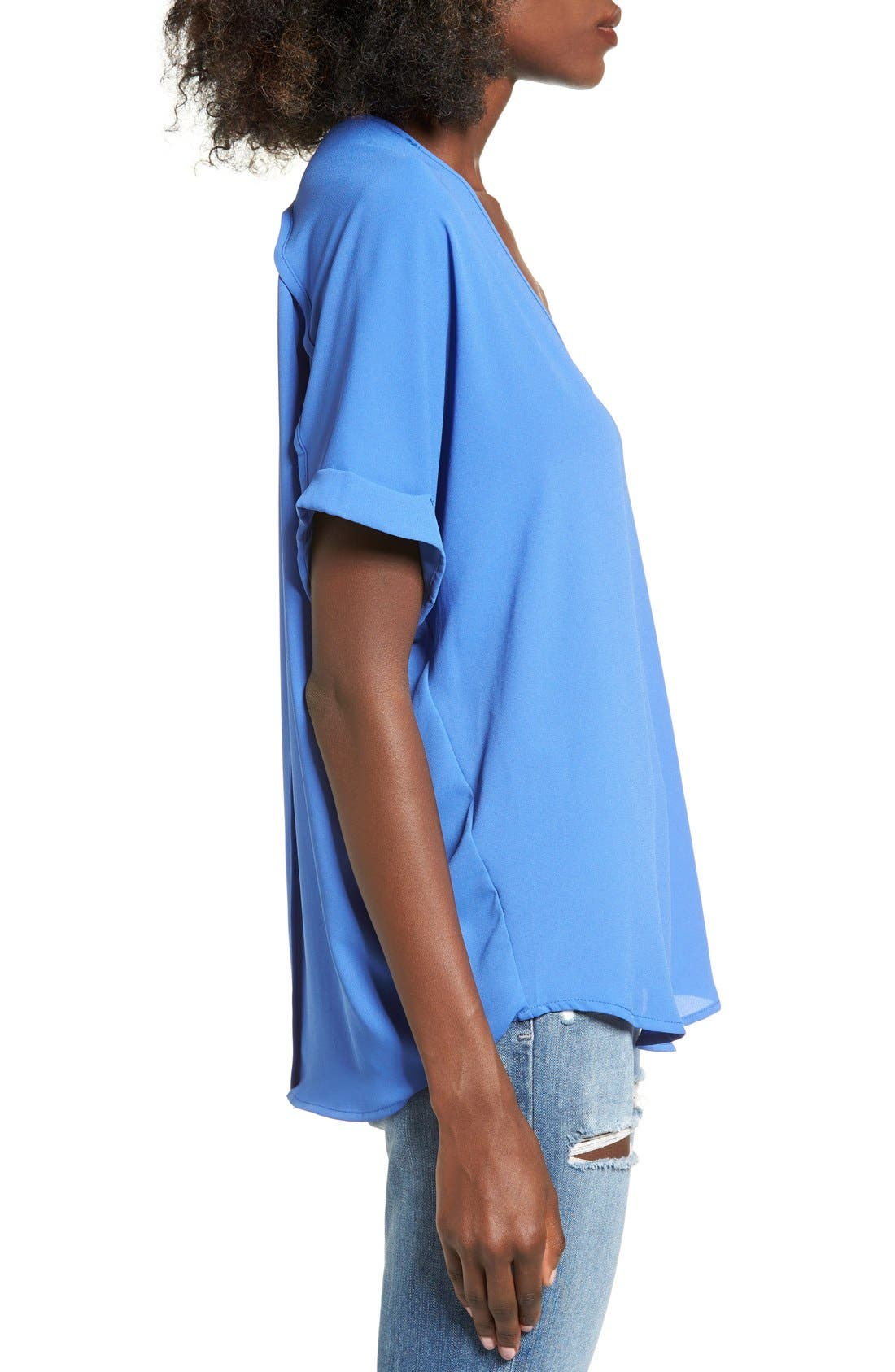 ,                             Lush Cuff Sleeve Woven Tee,                             Alternate thumbnail 117, color,                             454