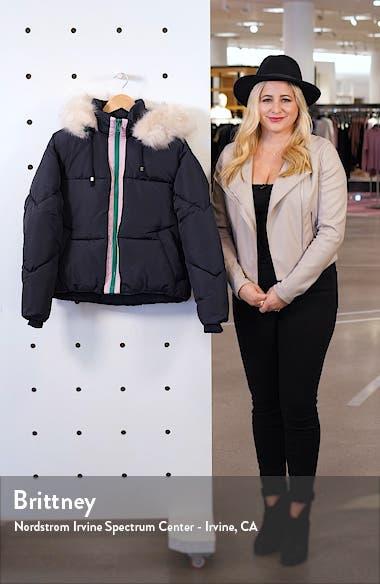 Lauren Faux Fur Hooded Puffer Jacket, sales video thumbnail