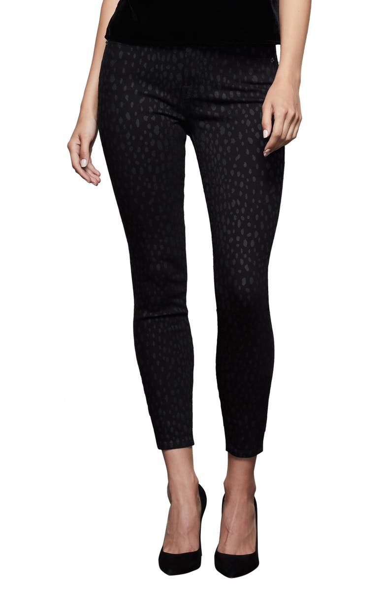 GOOD AMERICAN Good Legs Crop Skinny Jeans, Main, color, BLACK FOIL