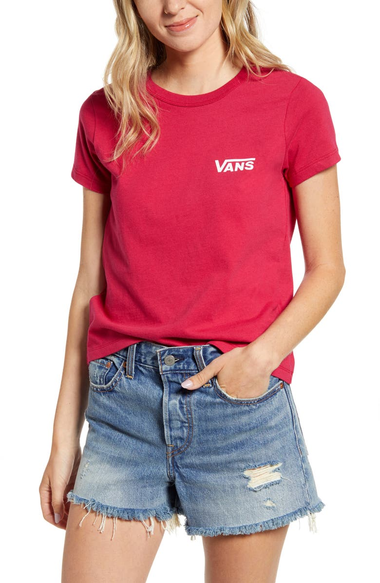 VANS Tri Check Graphic Baby Tee, Main, color, 600