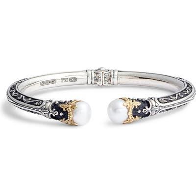 Konstantino Pearl Hinge Cuff Bracelet