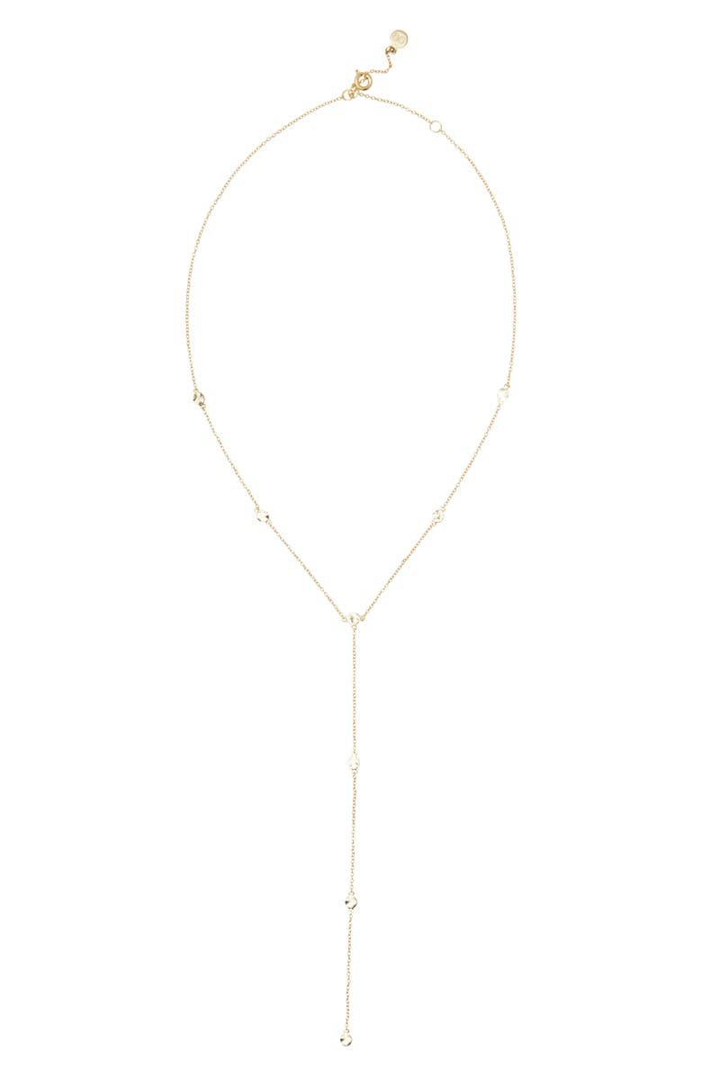GORJANA Chloe Short Lariat Long Necklace, Main, color, GOLD