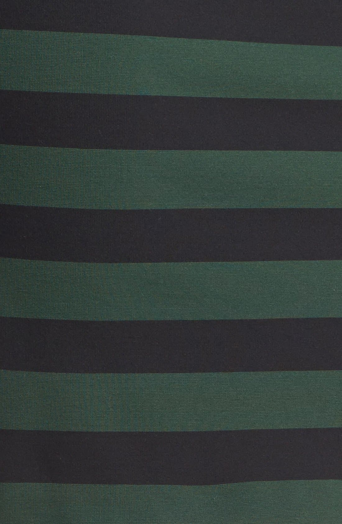 ,                             Faux Leather Trim Stripe Pencil Skirt,                             Alternate thumbnail 2, color,                             326
