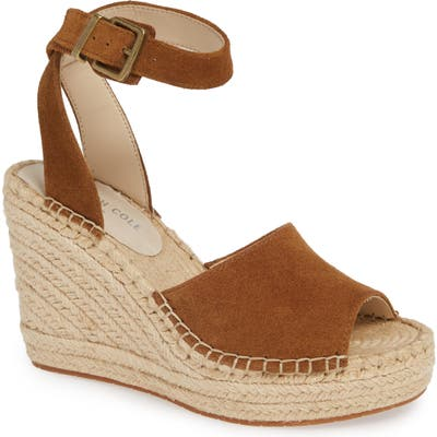 Kenneth Cole New York Olivia Wedge Sandal, Brown