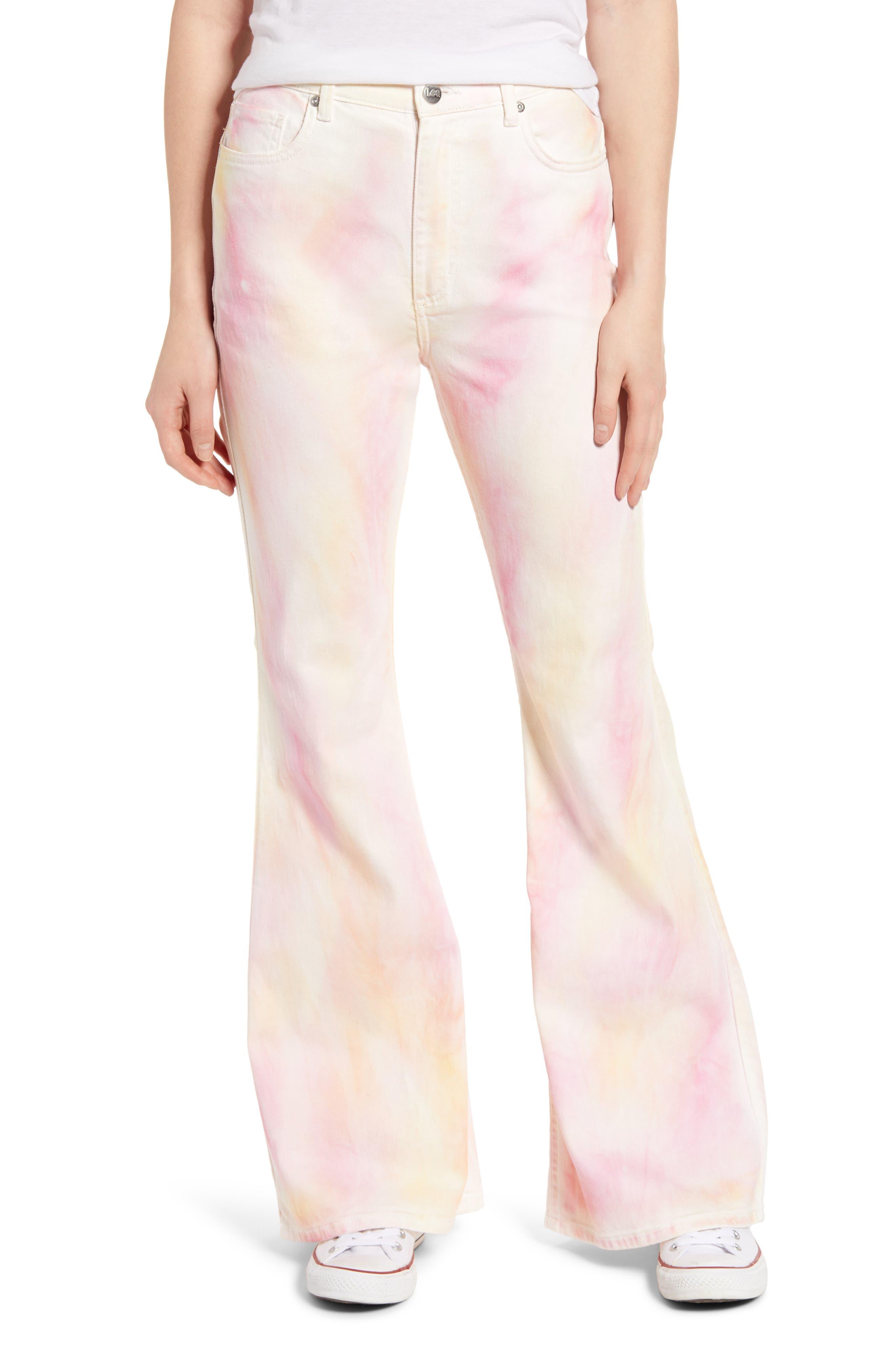 60s – 70s Pants, Jeans, Hippie, Bell Bottoms, Jumpsuits Womens Lee High Waist Flare Jeans $98.00 AT vintagedancer.com