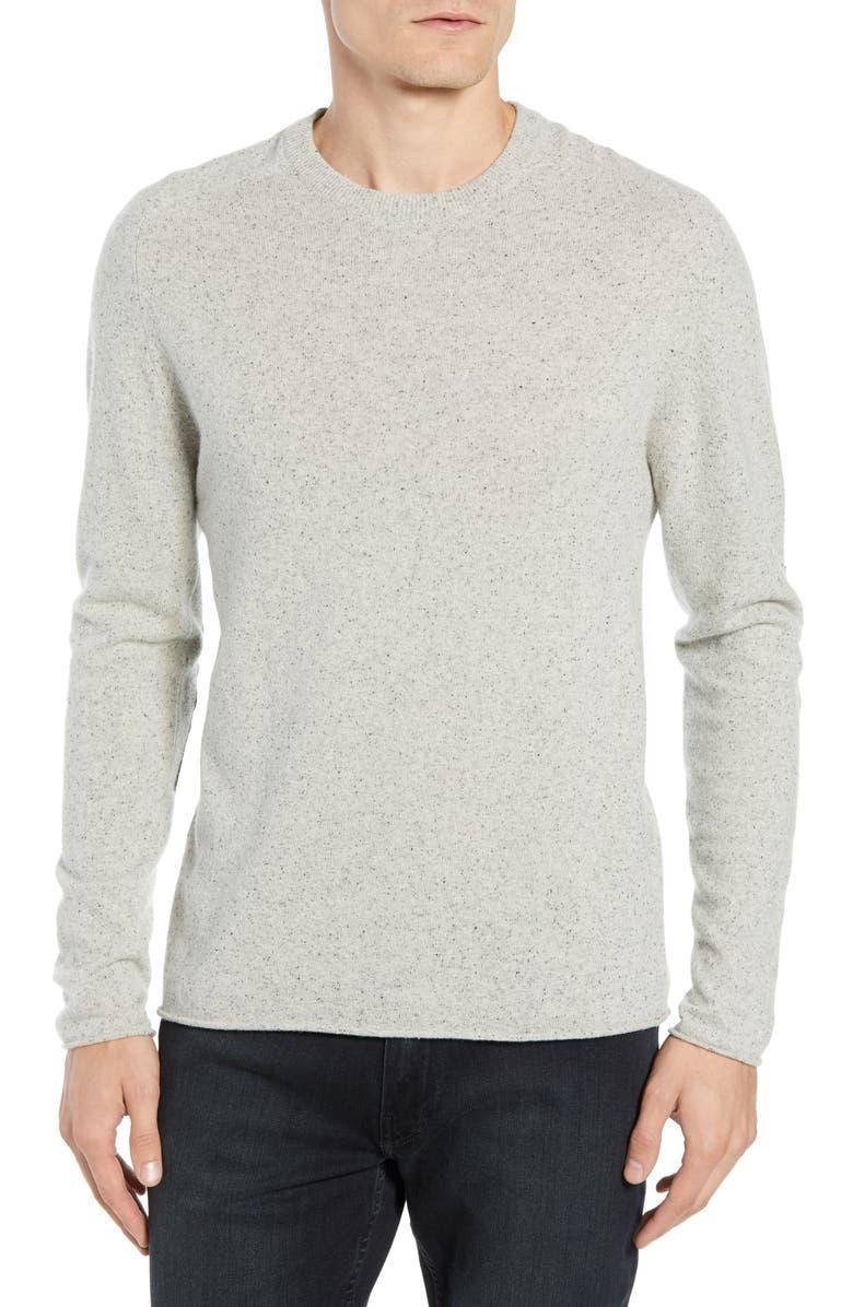 BILLY REID Heirloom Wool Blend Sweater, Main, color, LIGHT GREY