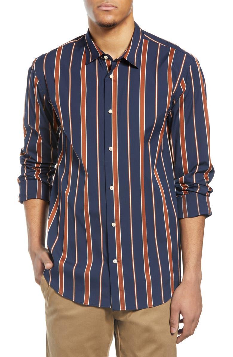SCOTCH & SODA Stripe Button-Up Shirt, Main, color, BLUE