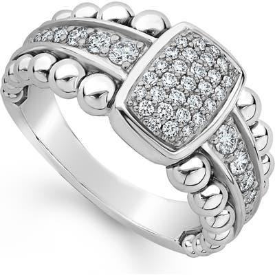 Lagos Caviar Diamond Pave Ring