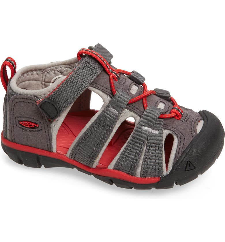 KEEN Seacamp II CNX Water Friendly Sandal, Main, color, MAGNET/ DRIZZLE/ DRIZZLE