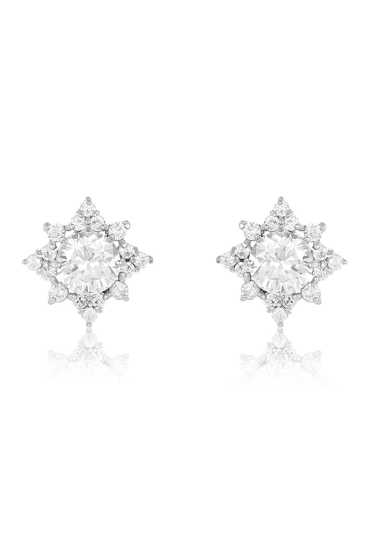 Image of Sterling Forever Sterling Silver CZ Pointed Stud Earrings