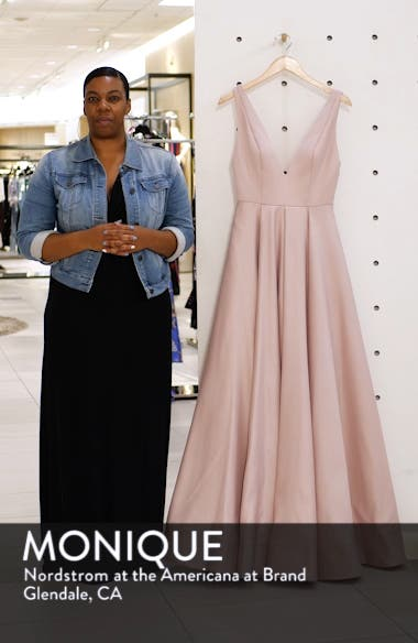 Plunging V-Neck Ballgown, sales video thumbnail