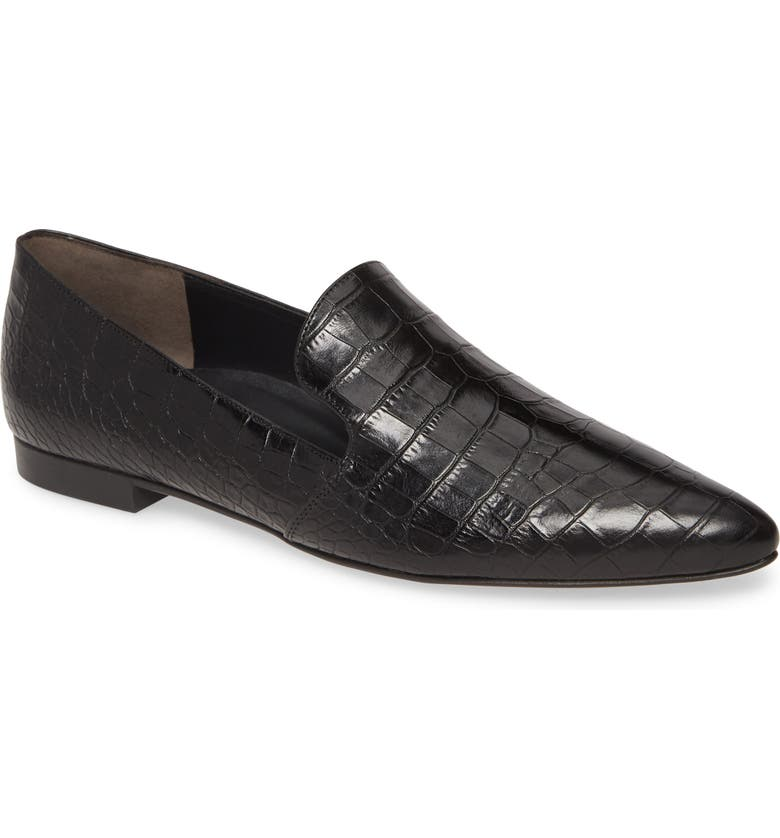 PAUL GREEN Belinda Pointed Toe Loafer, Main, color, BLACK CROCO