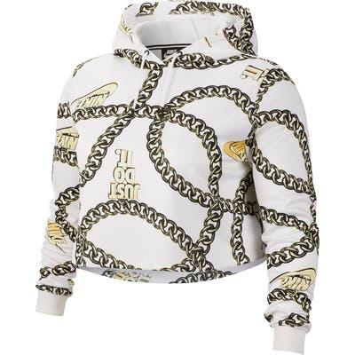 Plus Size Nike Sportswear Crop Hoodie (Plus)