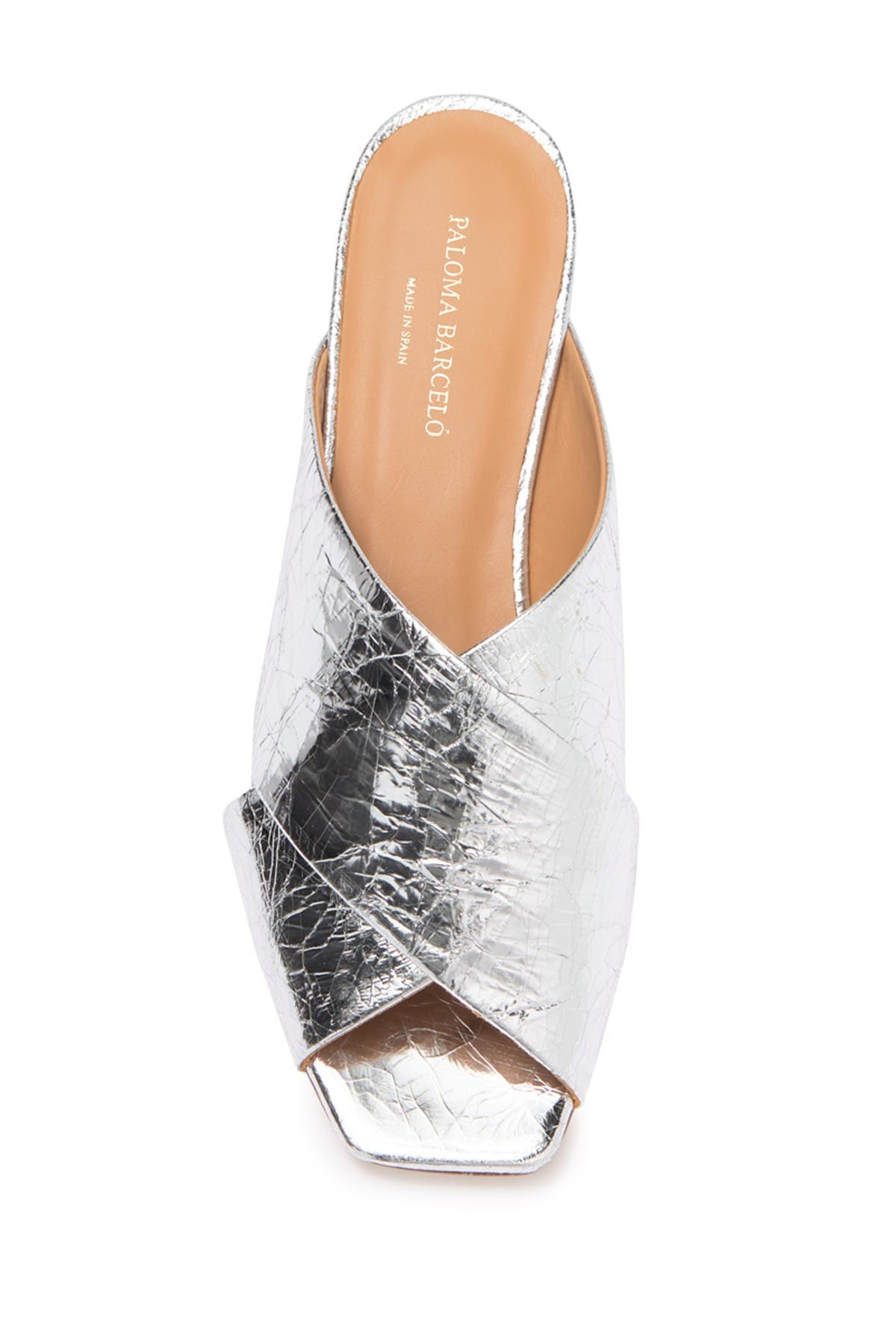 Image of Paloma Barcelo Briseda Metallic Leather Mule