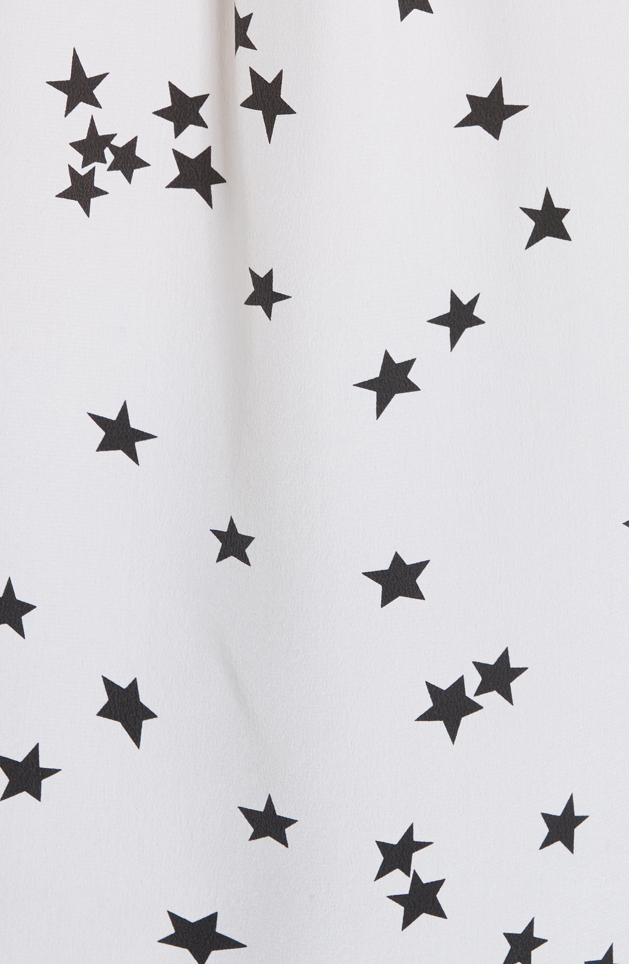 ,                             'Starry Night' Silk Shirt,                             Alternate thumbnail 5, color,                             BRIGHT WHITE/ BLACK