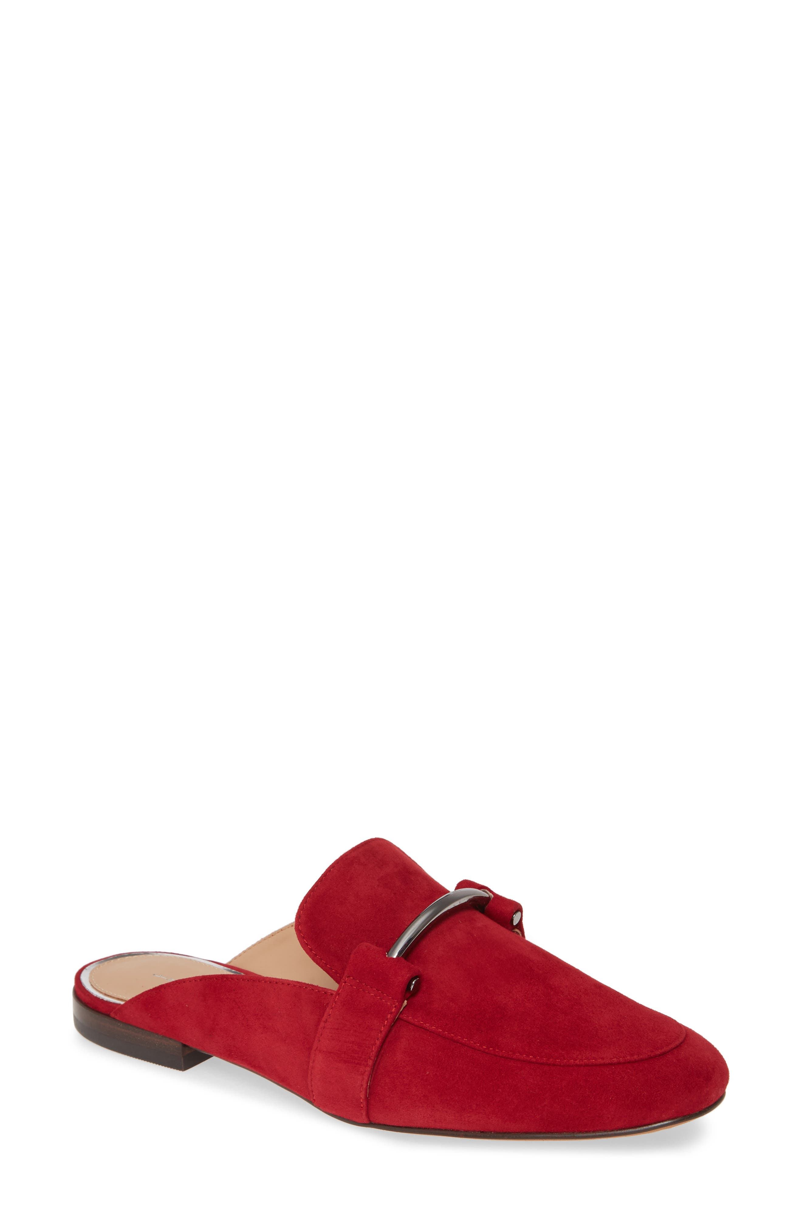 Linea Paolo Annette Loafer Mule- Red