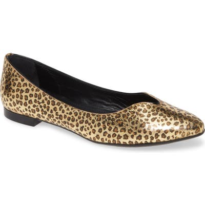 Agl Notch Ballet Flat, Metallic