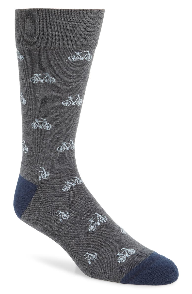 NORDSTROM MEN'S SHOP Mini Bicycles Socks, Main, color, 021