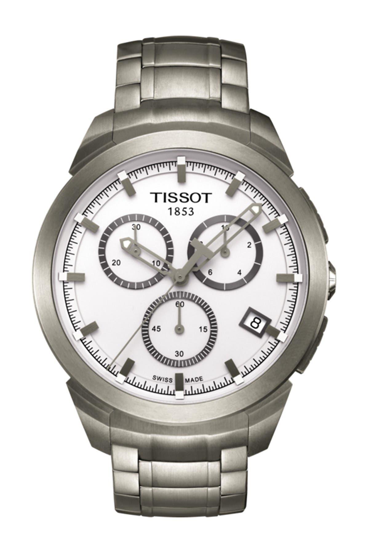 Image of Tissot Men's Titanium Chronograph Bracelet Watch, 43mm