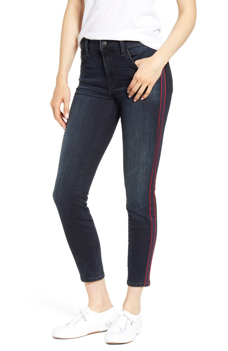 MAVI JEANS Tess Side Stripe Skinny Jeans, Main, color, 401