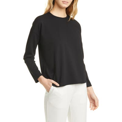 Eileen Fisher Boxy Crewneck Top, Black