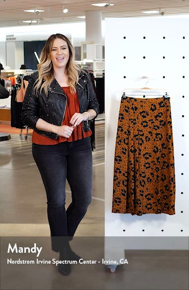 Floral Animal Box Pleat Midi Skirt, sales video thumbnail