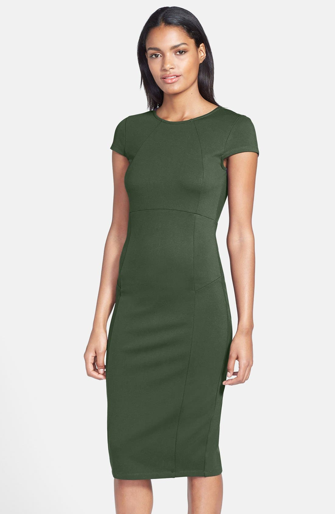,                             Ward Seamed Pencil Dress,                             Main thumbnail 36, color,                             306