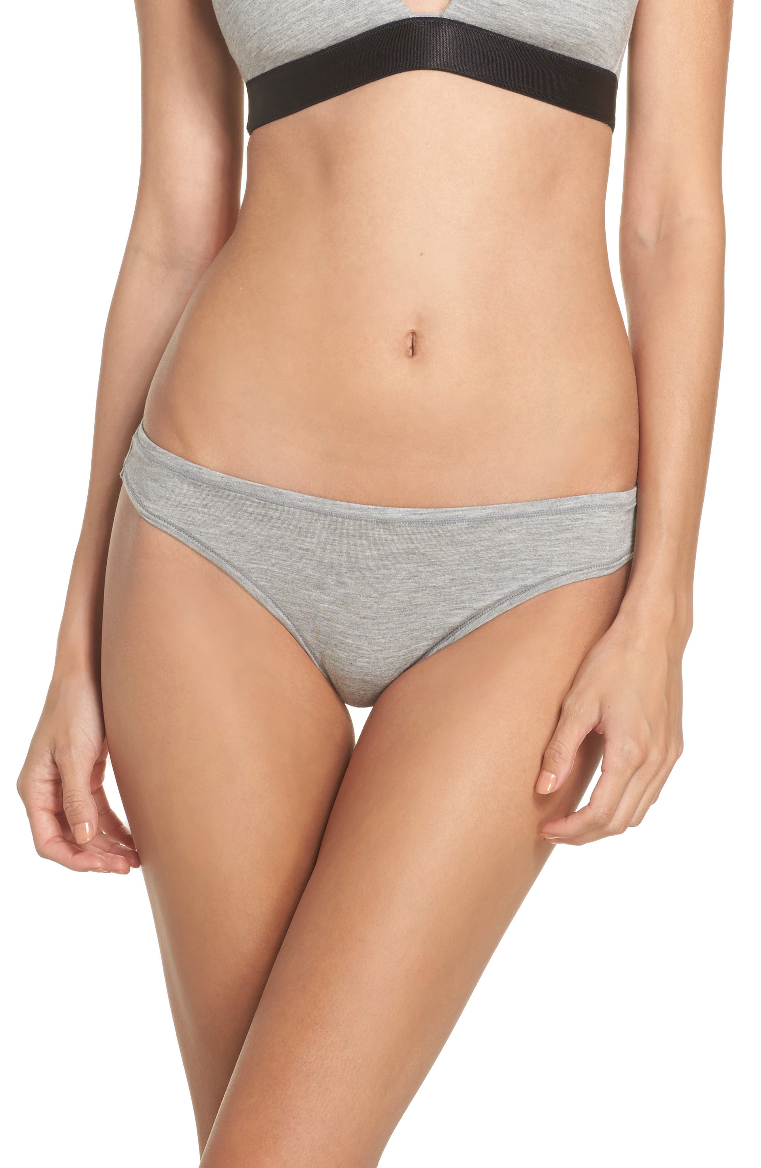 Micromodal Thong, Main, color, GREY FROST HEATHER