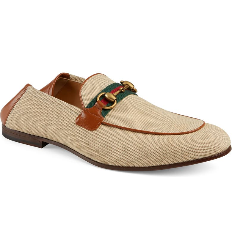 GUCCI New Jordaan Convertible Loafer, Main, color, NATURAL/ LIGHT BROWN