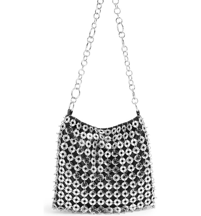 TOPSHOP Surprise Shoulder Bag, Main, color, SILVER