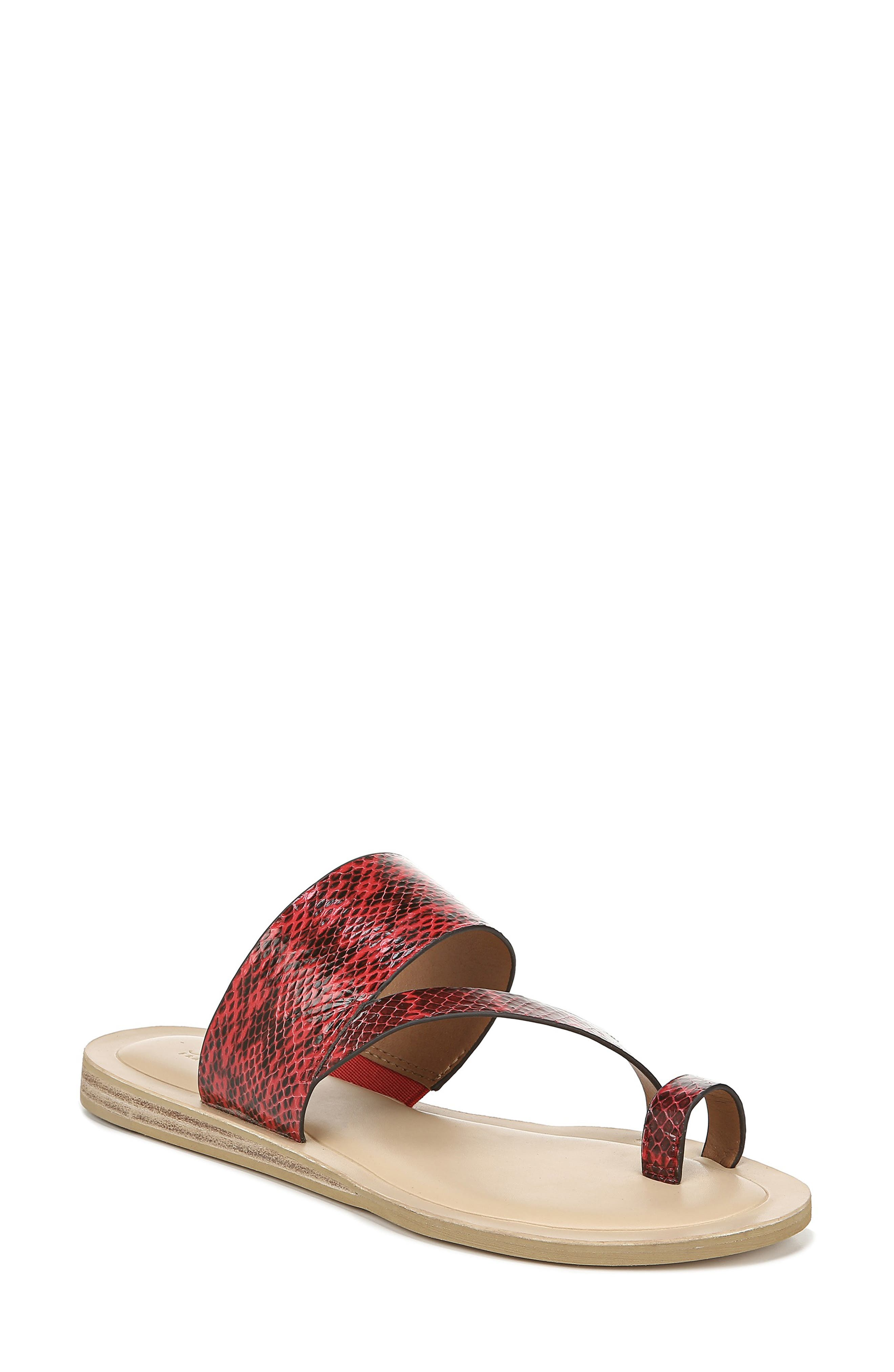 Sarto By Franco Sarto Leila Toe Loop Sandal- Red