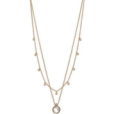Gorjana Eloise Layered Stone Pendant Necklace