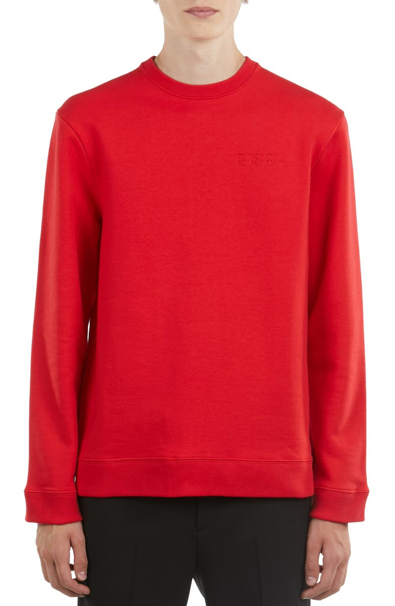 RAF SIMONS Graphic Crewneck Sweatshirt, Main, color, 600