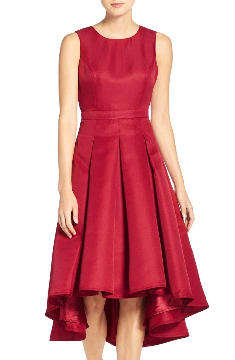 LULUS Cutout Back Tea Length High/Low Dress, Main, color, 931