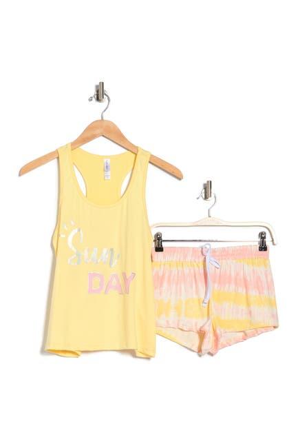 Image of FRENCH AFFAIR Sunday Tank Top & Shorts Pajama 2-Piece Set