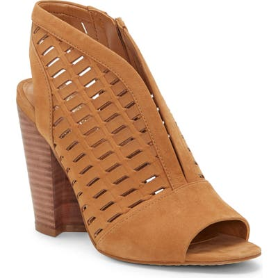 Vince Camuto Korsta Cutout Shield Sandal- Brown
