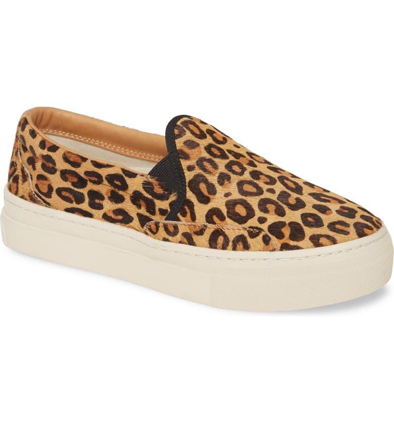 SOLUDOS Bondi Genuine Calf Hair Slip-On Sneaker, Main, color, LEOPARD PRINT CALF HAIR