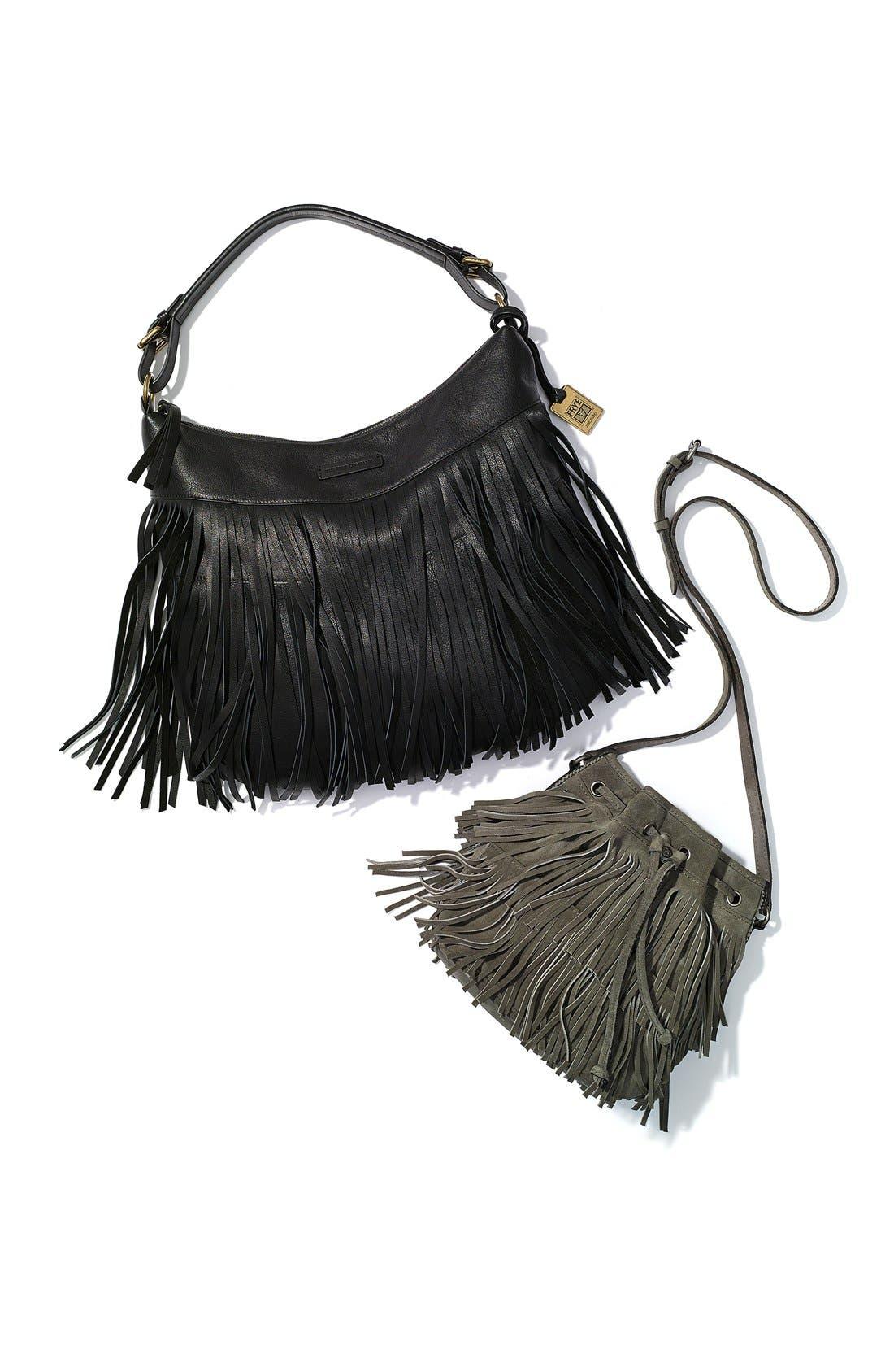 ,                             'Bronte' Fringe Bucket Bag,                             Alternate thumbnail 14, color,                             201